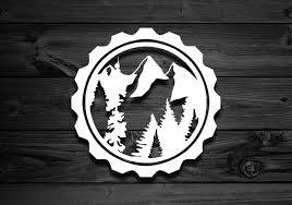 Mountain Vinyl Decal Car Decal Outdoor Decal Explorer Etsy Car Decals Vinyl Vinyl Decals Nature Decal