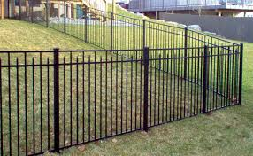 54 High 3 Rail 200 Style In Black Black Fence Fence Sections Backyard Fences