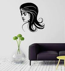Decals Stickers Vinyl Art Home Garden Ig2133 Vinyl Decal Beautiful Woman Beauty Salon Hair Stylist Wall Stickers Adrp Fournitures Fr