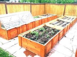 beds raised redwood bed plan gardening