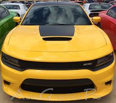 2015 2020 Dodge Charger Vinyl Decals Hood 15 Se Rt Hemi Stripes Daytona Mopar Blackout Graphic Kit
