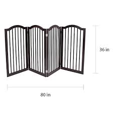 Shop Internet S Best 4 Panel Folding Pet Gate With Arched Top Overstock 20832118