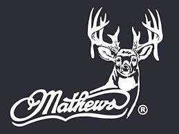 Amazon Com Mathews Archery Logo With Whitetail White Hunting Window Decal Sticker Kitchen Dining