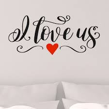Shop I Love Us Vinyl Wall Decal Overstock 29045773