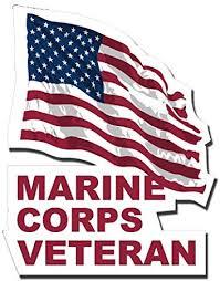 Amazon Com Magnet Marine Corps Veteran With American Flag Car Bumper Magnet Sticker Magnetic Vinyl Decal 3 8 Automotive