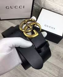 replica gucci leather belt with double