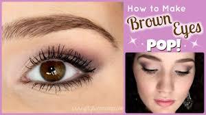 brown eyes pop makeup tutorial