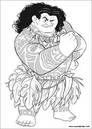 Ausmalbilder Vaiana Maui Kleurplaten Disney Kleurplaten Kleuren