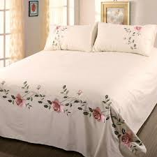 bed sheet 2 pillowcases embroidered