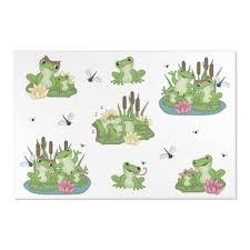 Frog Area Rug Kids Decor In 2020 Kids Decor Frog Decor Floral Kids Room Decor