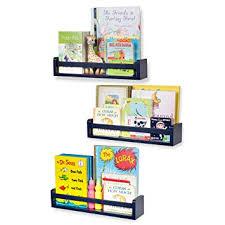 3 Set Shelf Nursery Decor Wall Shelves Crown Molding Floating Bookshelves For Baby And Kids Room Book Organizer Storage Ledge Cds Frames Baby Monitor Display Holder For Toys