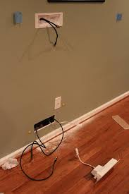hiding wires on wall mounted tv brick wall