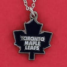 toronto maple leafs necklace pewter
