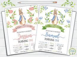 10 Invitaciones Personalizadas De Peter Rabbit Para Ninos Y Ninas