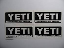 Yeti Coolers 2x1 5 Black On Clear Vinyl Decal Weather Proof 2 Stickers Amazon Ca Home Kitchen