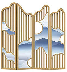 Amazon Com Even 4 Panels Room Divider Hand Made Shabby Chic Decorative Design Glamour Classic Style Wooden Slat Design Furniture Decor