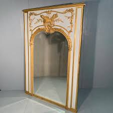 large french trumeau mirror in paint