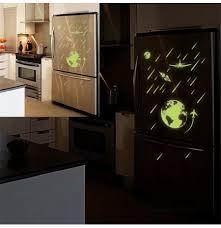 Cartoon Universe Meteor Shower Luminous Diy Pvc Wall Sticker Kids Room Home Decor Art Mural Decal