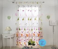 Custom Made Curtains Hot Butterfly Pattern Kids Curtains For Girls Living Room Curtains Sheer Curtain Curtains For Made Curtainscurtain Pattern Aliexpress