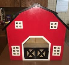 hand made wooden barn toy large 16 5 x