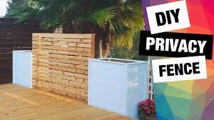 Diy Privacy Fence With Planter Boxes How To Build Deck Wall Privacy Screen Youtube