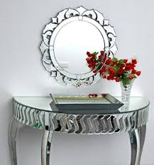 decor wall mirror and console table set