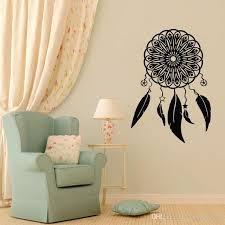 Dream On Catcher Wall Stickers Home Decor Living Room Creative Dreamcatcher Feathers Wall Decals Bedroom Decoration Decals Wall Art Decals Wall Stickers From Moderndecal 9 01 Dhgate Com