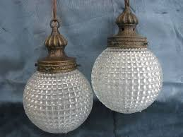 60s vintage swag lamp hanging light w