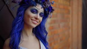 surprised happy dead bride on halloween
