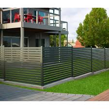 Horizontal Slat Fencing Aluminum Easy To Install Stratco Usa