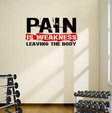 Pain Is Weakness Leaving The Body Wall Art Motivational Decal Sticker Designdivil