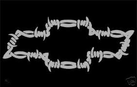 Chevy Chevrolet Barbed Wire Cool Vinyl Decal Sticker 32745581