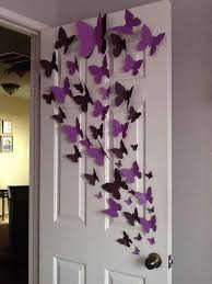 12 Pack 3d Butterfly Living Room Wall Decals Stickers Diy Purple Colle Chaircoverfactory