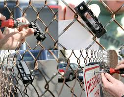 Tamper Resistant Signguardian Fence Bracket Prevent Sign Theft