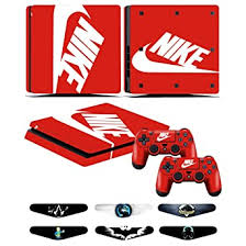 Amazon Com Ps4 Slim Skins Decals For Ps4 Controller Playstation 4 Slim Stickers Cover For Ps4 Slim Controller Sony Playstation Four Slim Accessories With Dualshock 4 Two Controllers Skin Nike Logo Video Games
