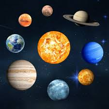 Glow In The Dark Stars And Planets Bright Solar System Wall Stickers Sun Earth Mars And