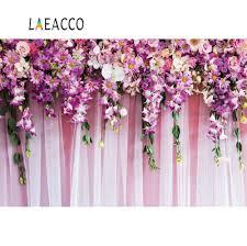 خلفيات لحفلات الزفاف من Laeacco للتصوير الفوتوغرافي أزهار زهرية