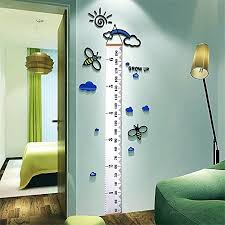 Baby Growth Chart Ruler Child Height Canvas Wall Decal Sticker Hanging Removable Measuring Tools For Children
