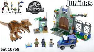 Lego Jurassic World Juniors 10758 T Rex Breakout Lego Speed Build Review Youtube