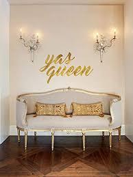 Amazon Com Yas Queen Vinyl Wall Word Decal 21 Wide X 12 Tall Handmade