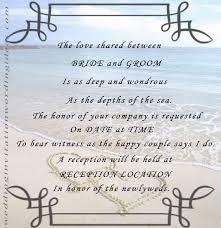 beach themed wedding invitations free