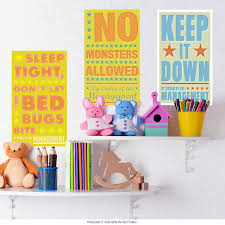 Bedroom Rules Kids Room Wall Decal Set At Retro Planet
