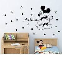 Mickey And Minnie Mouse Car Stickers Vinyl Sticker Personalized Name Boy Decorate For Kids Art Decor 7878 Inch Educational Toys Planet