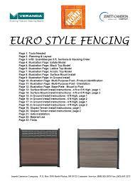Veranda Ef 00202 Installation Guide Manualzz