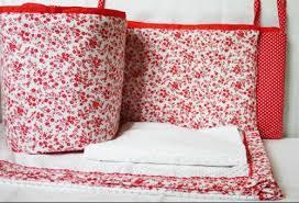 crib bedding set elegant in red at rs
