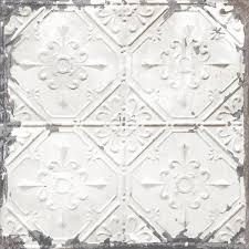off white vintage tin tile l