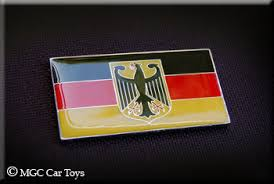 Amazing German Germany Real Car Metal Decal Badge Fender Grille Emblem Auto Flag 2 Wide X