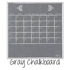 Monthly Fridge Calendar Decal Gray