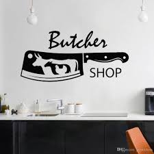 Butcher Shop Vinyl Wall Decal Knife Bull Chicken Sheep Meat Wall Stickers Decor Kitchen North America Home Decoration Art Wall Art Decal Wall Art Decal Stickers From Joystickers 11 75 Dhgate Com
