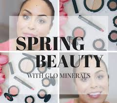 glowing skin with glo minerals makeup